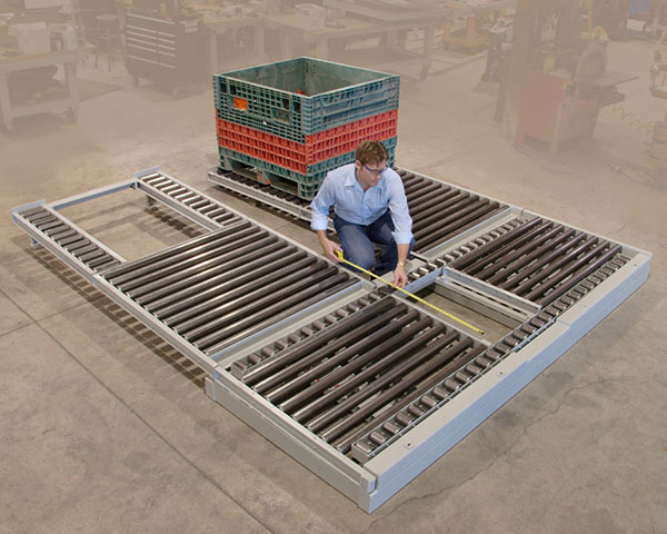 Custom roller conveyor by Givens Engineering Inc.