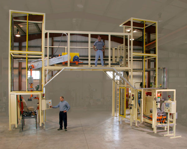 Material Handling Automation by Givens Engineering Inc. manufactured in Canada.