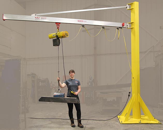 J250 Jib Crane by Givens Engineering Inc. manufactured in Canada.