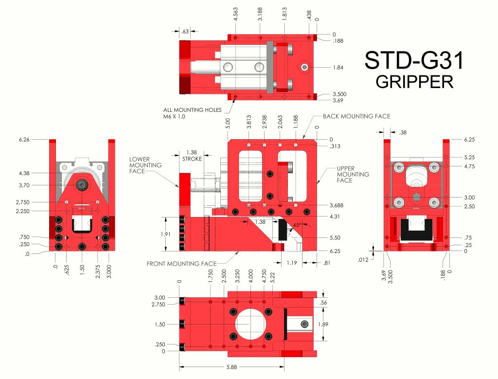 STD-G31 Pneumatic Gripper by Givens Engineering Inc.