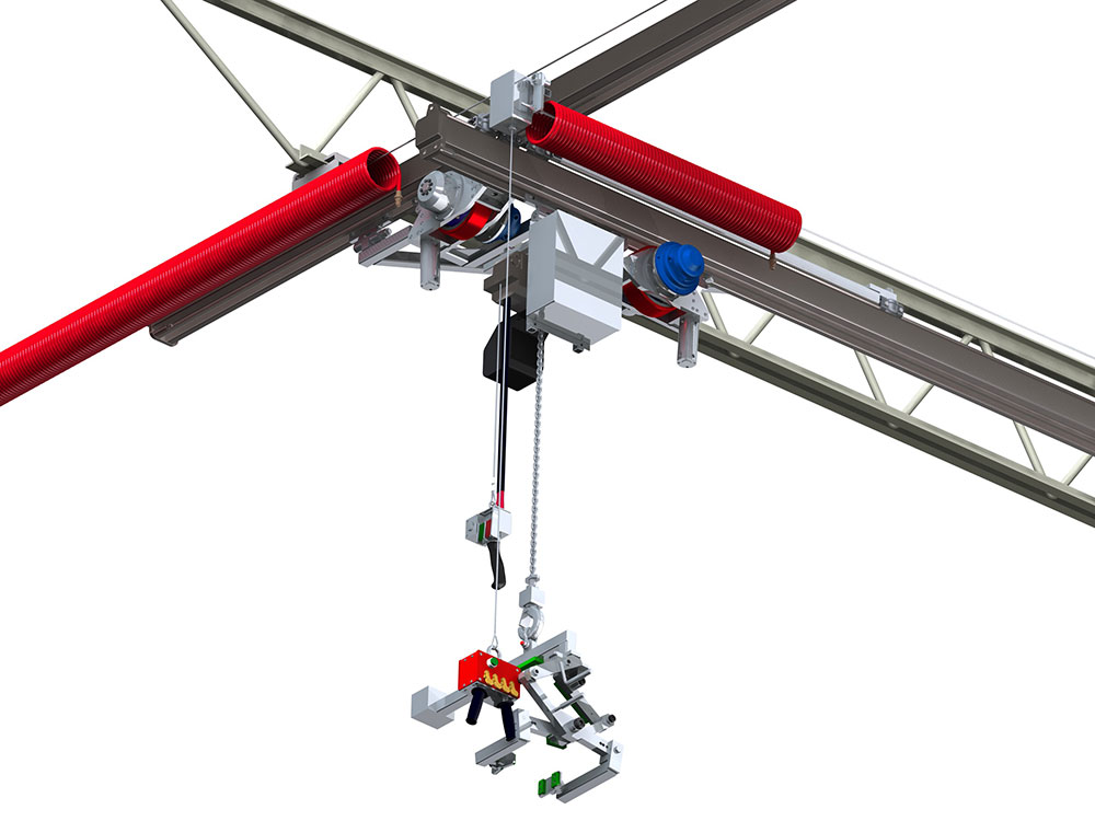 Powered Bridge & Hoist Food-Grade Crane by Givens Engineering Inc.