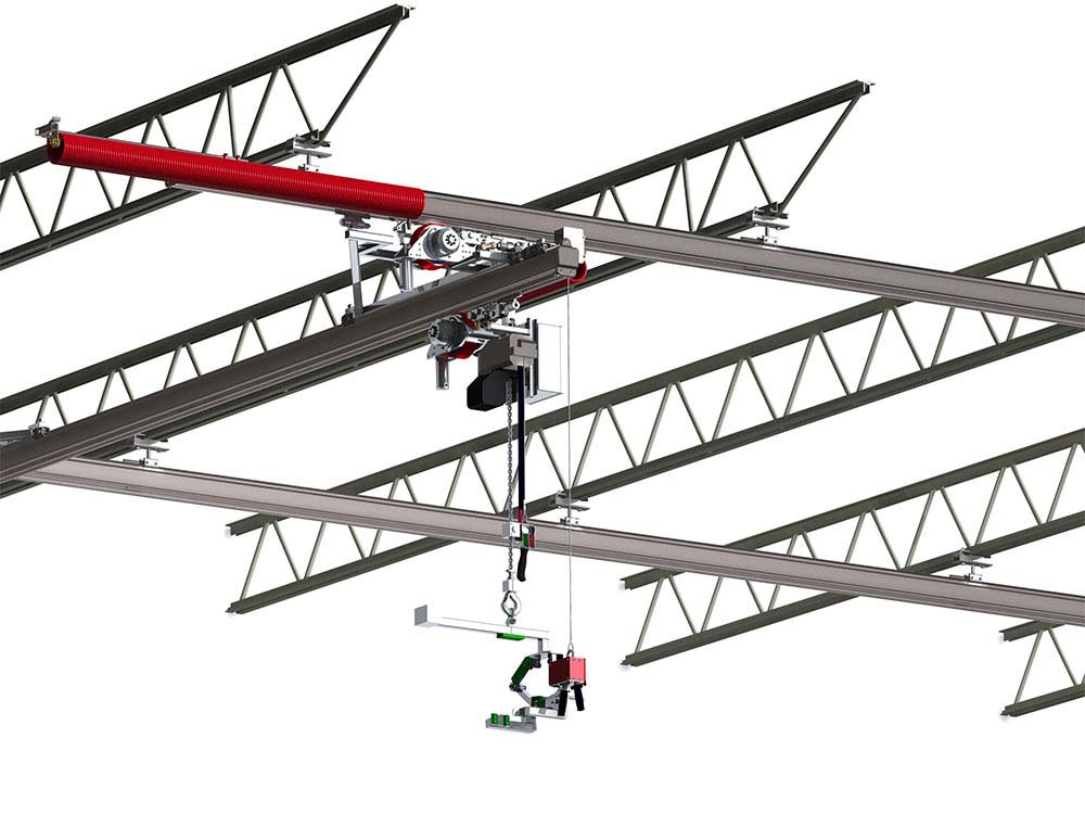 Food-Grade, Stainless Steel Bridge Crane by Givens Engineering Inc.