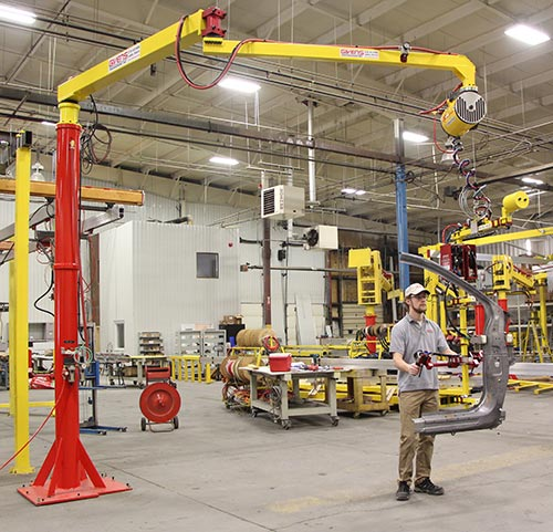 AJ60 Articulated Jib Cranes by Givens Engineering Inc. -manufactured in Canada.