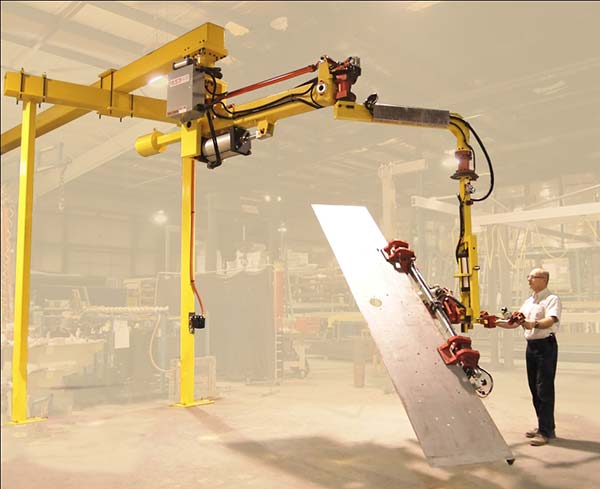 Brake Press Manipulator turns a 10' sheet 180º degrees