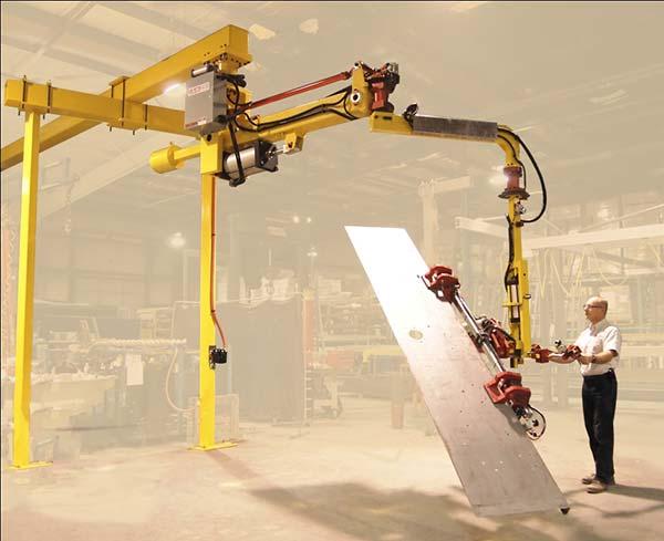 Brake Press Manipulator turns a 10' sheet 180º degrees