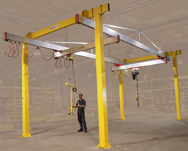 C1000 crane with balancer and custom hook