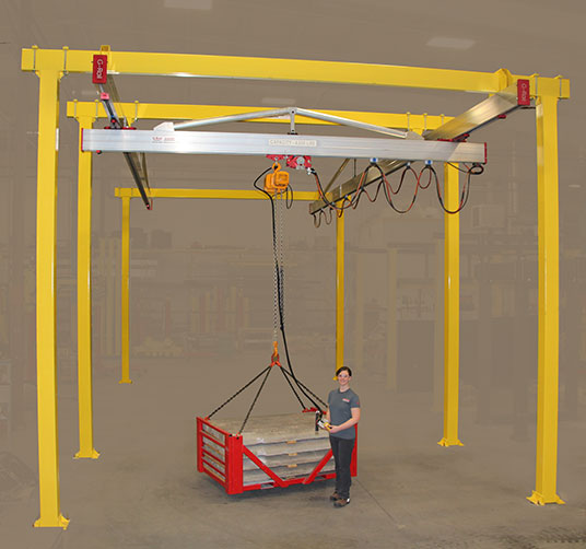 C2000 Bridge Crane by Givens Engineering Inc. manufactured in Canada.