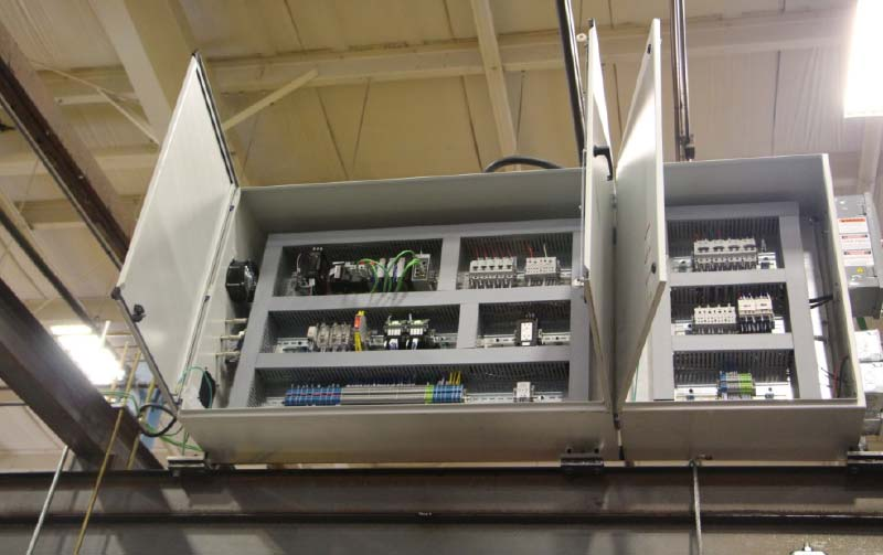 Control panels for the above nutrunner system, including PLC.