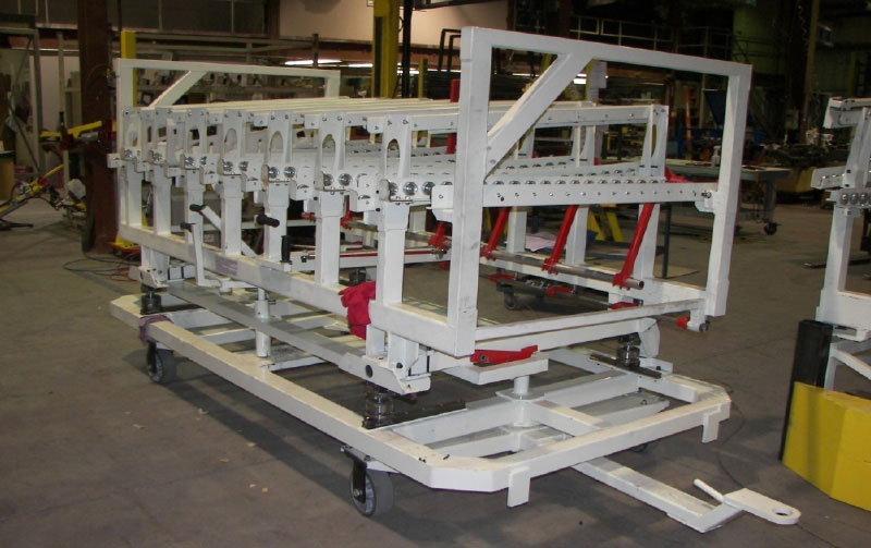 Conveyor cart with several lanes of