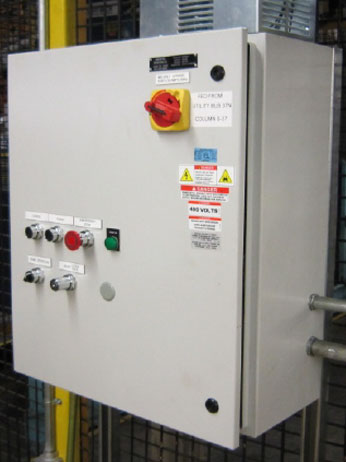 Conveyor Controls by Givens Engineering Inc. manufactured in Canada.