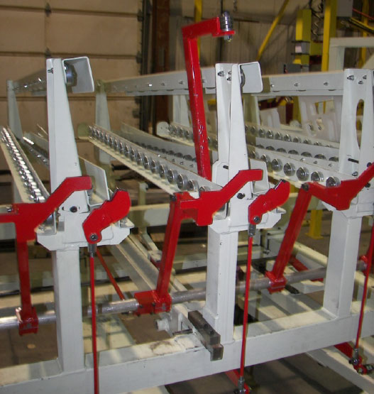 conveyor exit-end gates detail by Givens Engineering Inc.