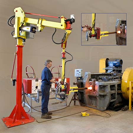 Forging manipulator at work by Givens Engineering Inc.