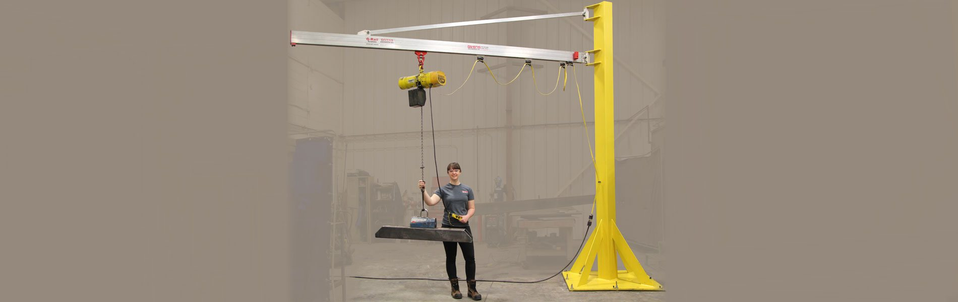 G-Rail Jib Cranes by Givens Engineering Inc.