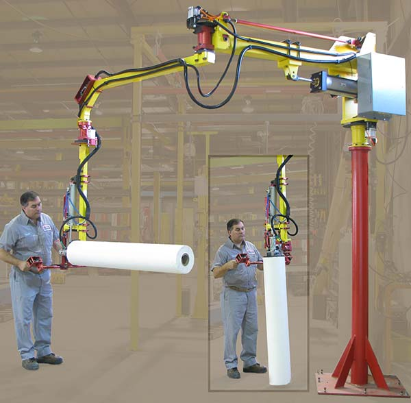 M35 manipulator with 90º degree tilt roll handler by Givens Engineering Inc.
