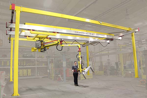 M60 Manipulator mounted on a crane to allow far greater travel