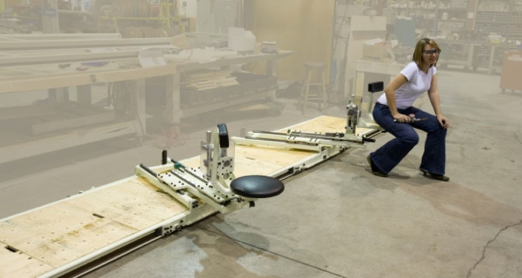 Custom slide seats for auto assembly by Givens Engineering Inc. manufactured in Canada.