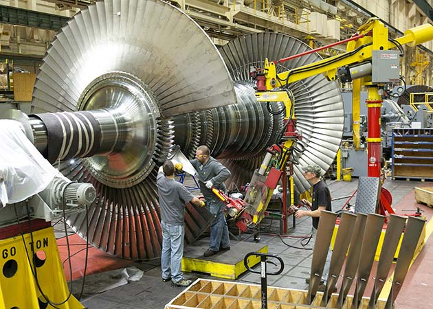 Turbine assembly with an M120 Manipulator by Givens Engineering Inc.